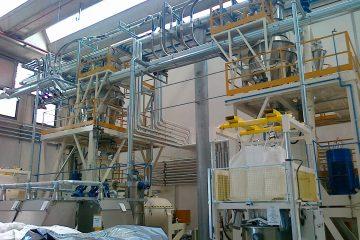 Planta de dosificación de polvo GPA SAS Colombia Mezcladores Plantas de producción Valtorta Mixer Italia Plásticos PVC