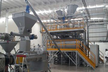 Planta completa para producción de PVC flexible Valtorta Mixer Colombia GPA SAS plásticos PVC